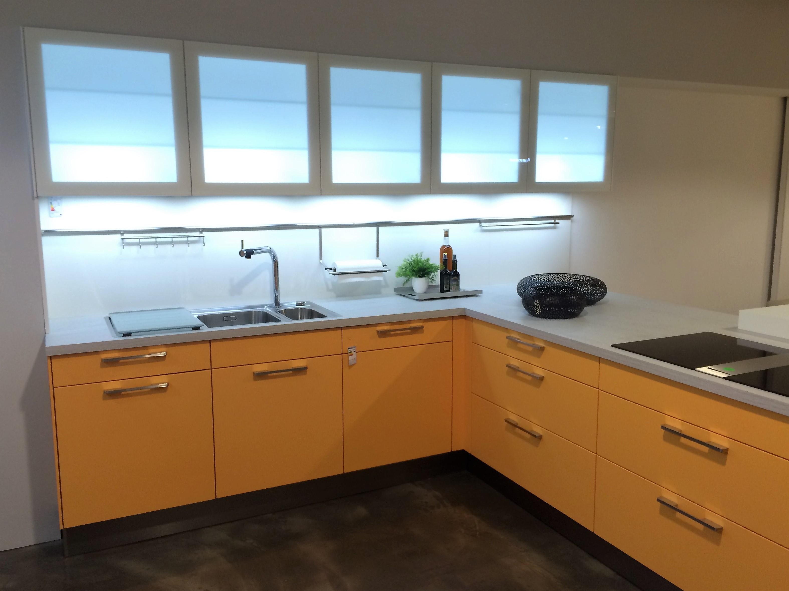 Küche l form günstig  Günstige Musterküche - Küche in L-Form von Häcker - erhältlich in ...