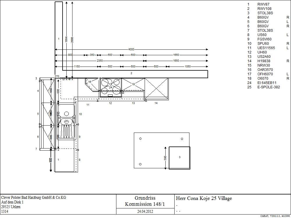 k che in l form von cona f r nur 4998 00 euro musterk che. Black Bedroom Furniture Sets. Home Design Ideas