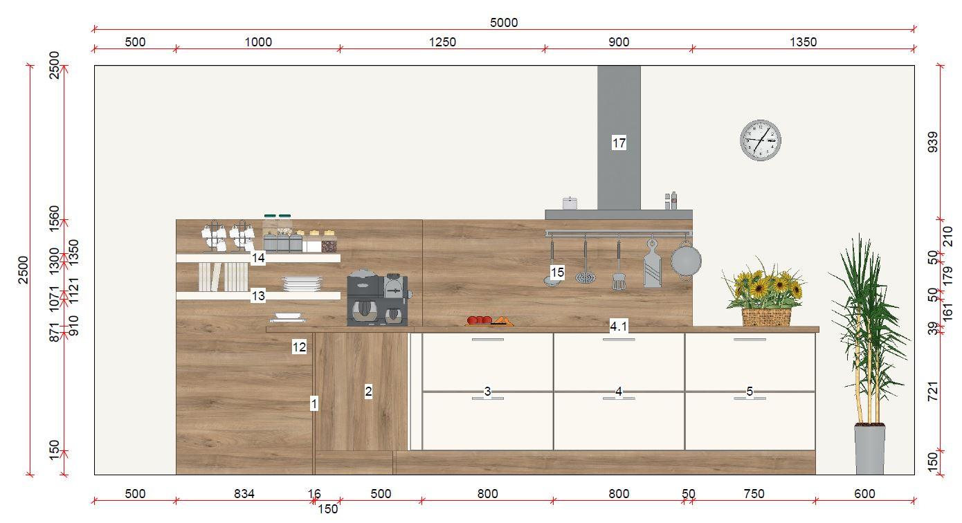 zweizeilige k che von h cker erh ltlich in oederan. Black Bedroom Furniture Sets. Home Design Ideas