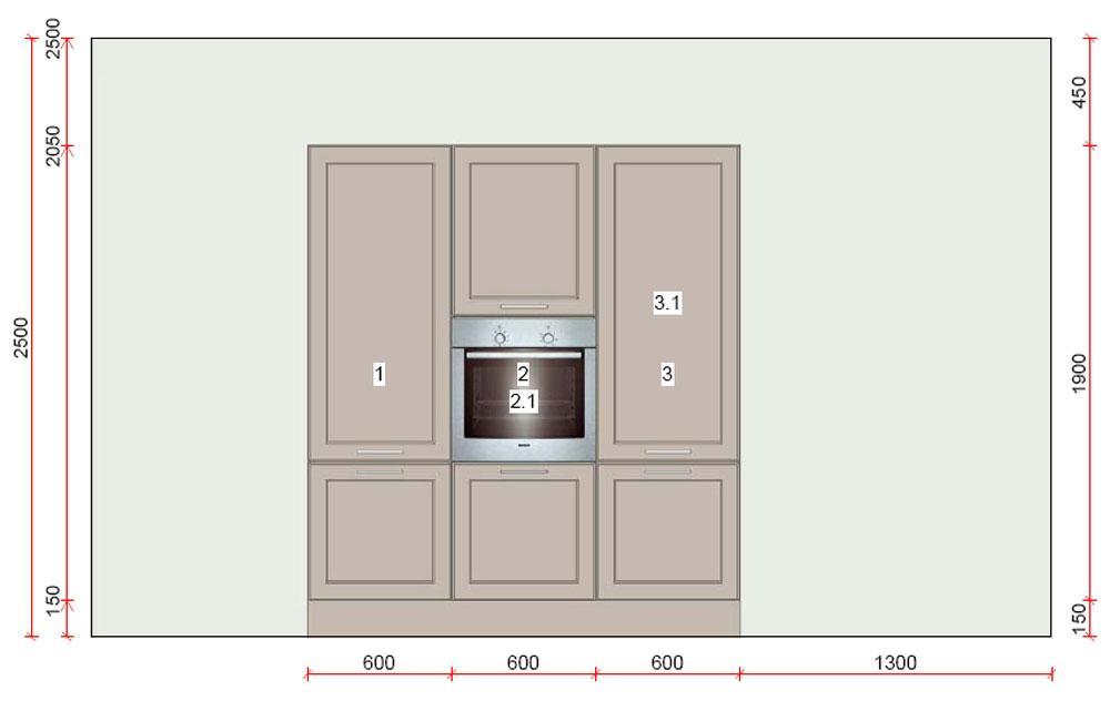 k che zweizeilig von h cker f r nur 4075 00 euro neuware. Black Bedroom Furniture Sets. Home Design Ideas