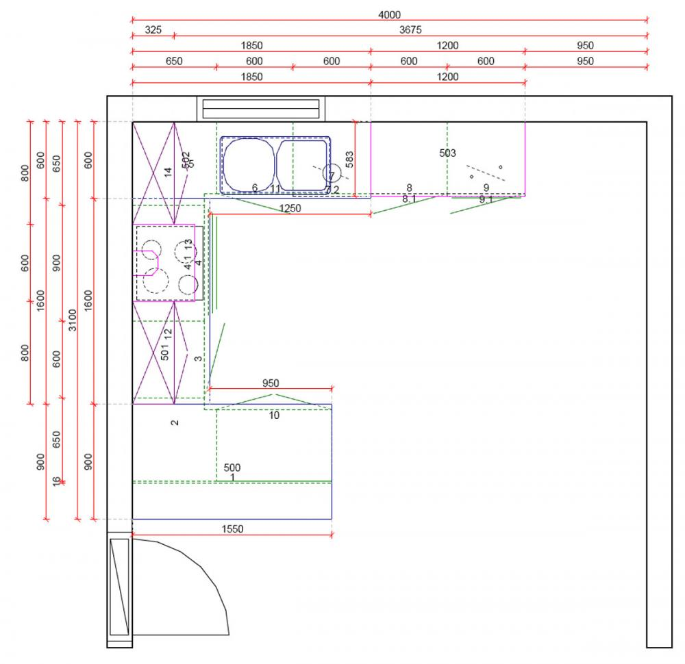 k chen l form mit theke. Black Bedroom Furniture Sets. Home Design Ideas