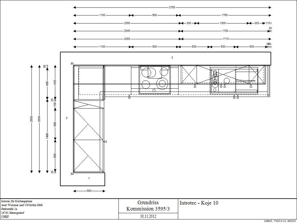 k che in l form von sch ller. Black Bedroom Furniture Sets. Home Design Ideas