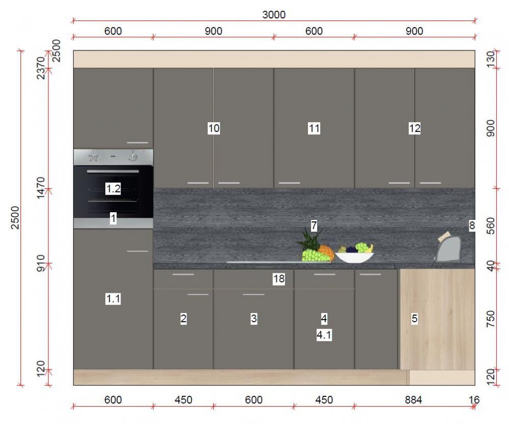 Küche in L-Form von Online - Küchenfachgeschäft - Foto  2