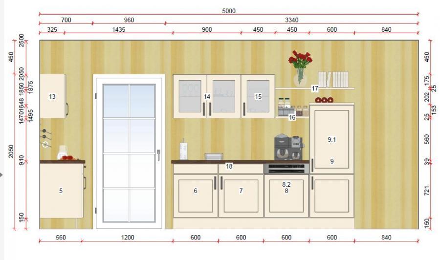 Zweizeilige Küche von Online - Küchenfachgeschäft - Foto  3