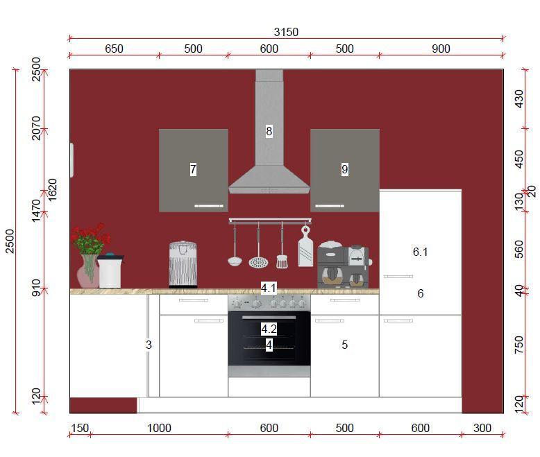 Küche in L-Form von Online - Küchenfachgeschäft - Foto  3