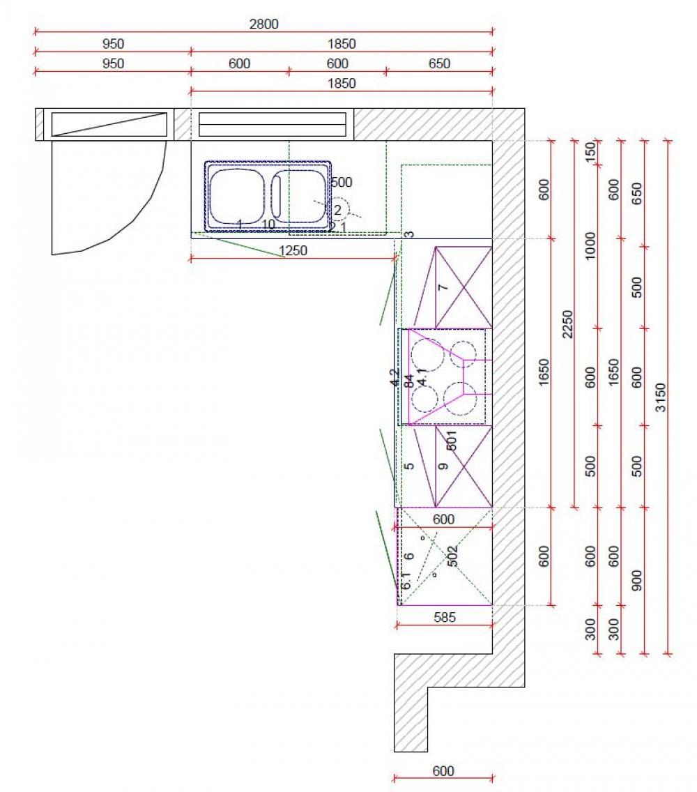 Küche in L-Form von Online - Küchenfachgeschäft - Foto  1